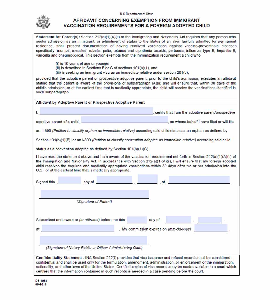 Application For Naturalization Form N  Free