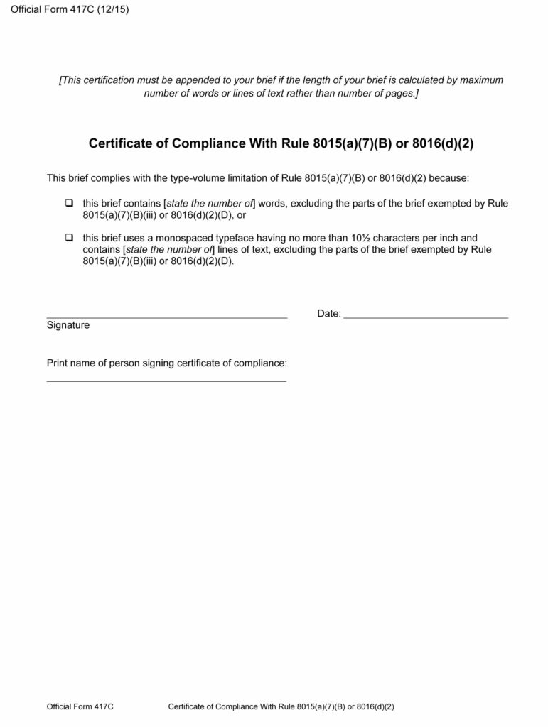 Free official form 417c certificate of compliance with rule 8015a official form 417c certificate of compliance with rule 8015a7 thecheapjerseys Image collections